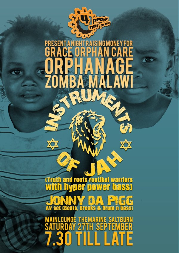 4 people not profit orphanage poster