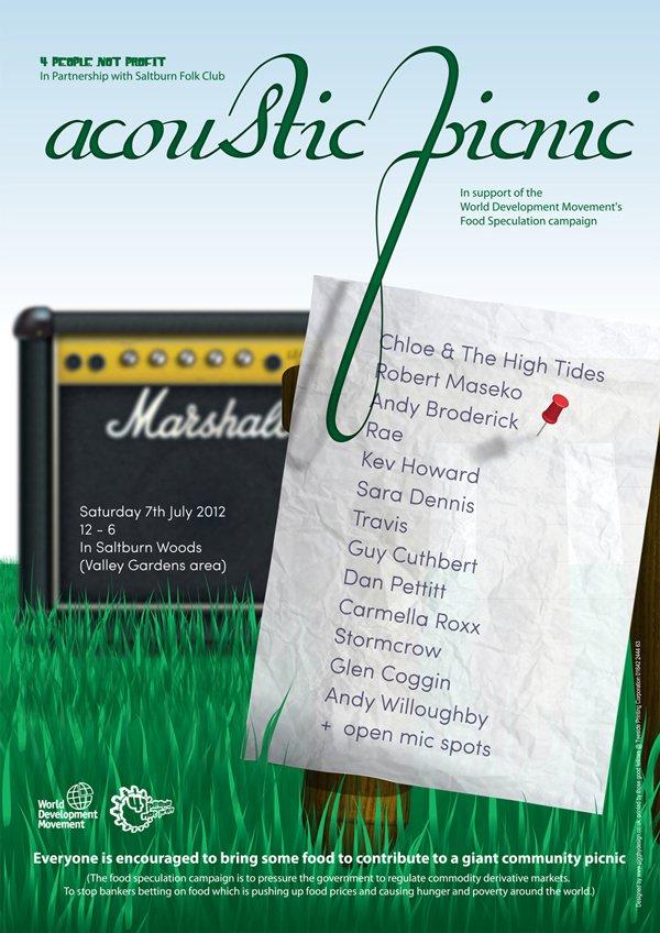 4 people not profit acoustic picnic