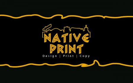 native print logo