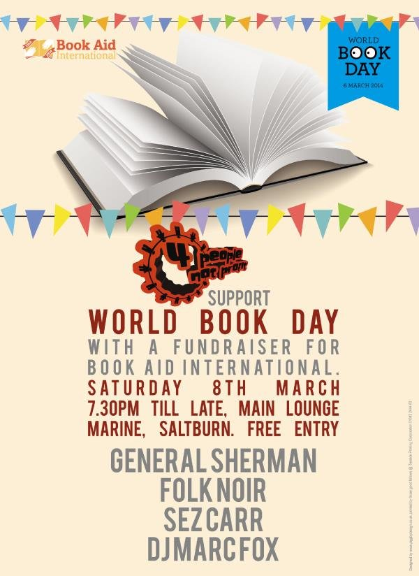 4 people not profit world book day poster