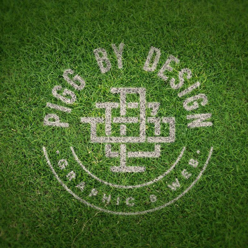 grass print logo