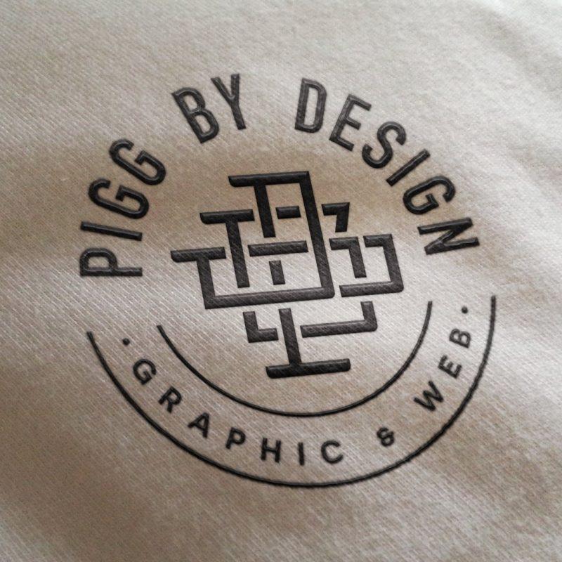 embossed logo clothing