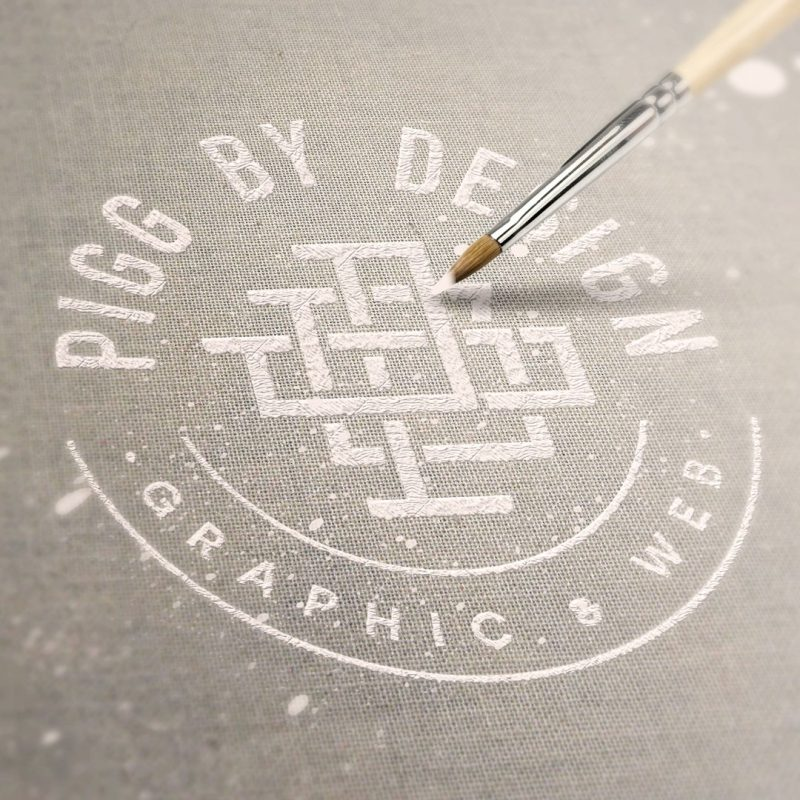 canvas painted logo