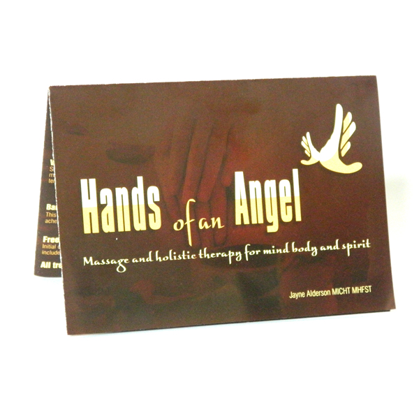 hands of an angel folded leaflet